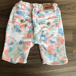 Levi's Bermuda shorts watercolor colorful size 4